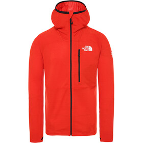 The North Face L2 Power Grid Light Down Hoodie Men fiery red